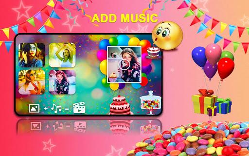 Birthday Greetings Video 2019 Photo Frame Screenshot 8