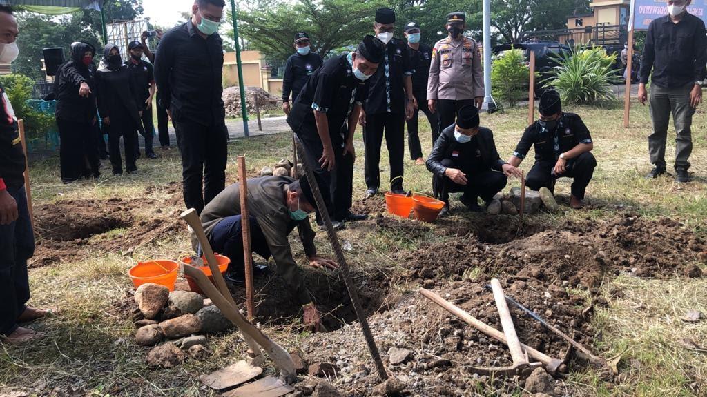 Pusat Cabang PSHT Magetan Lakukan Peletakan Batu pertama Pembangunan Masjid Ki Ngabehi Suro Diwiryo