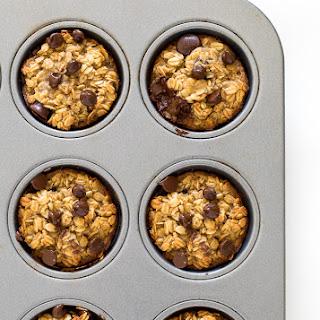 Healthy Banana Chocolate Oatmeal Muffins Recipe