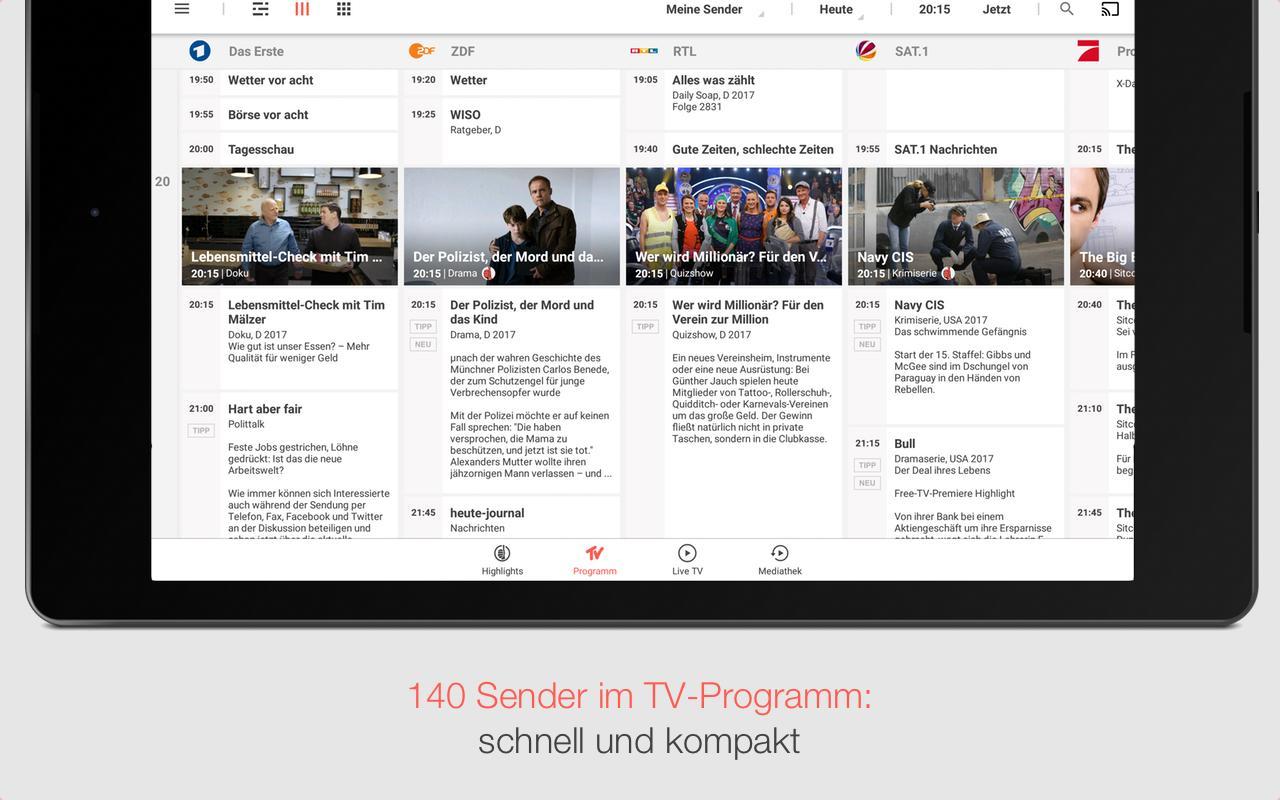 tv spielfilm tv programm mit live tv android apps auf. Black Bedroom Furniture Sets. Home Design Ideas