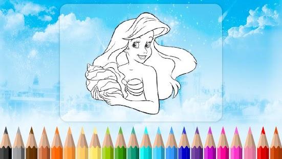 Free Best Princess Coloring Book For Kids Screenshot Thumbnail