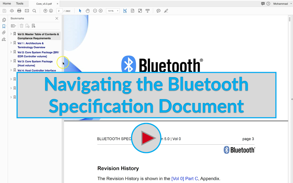 Navigating the Bluetooth Specification Document Image