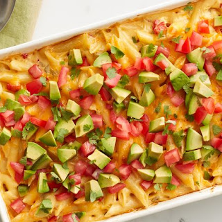 Queso Macaroni and Cheese.