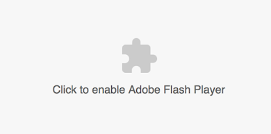 Click to enable Adobe Flash Player