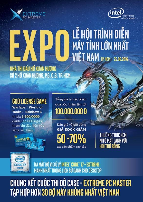 Mời tham dự lễ hội trình diễn máy tính lớn nhất Việt Nam - Extreme PC Master Expo 2016