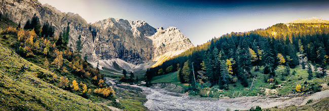 Photo: Karwendel, Ahornboden - a little Experiment: HDR-Freehand-Panorama