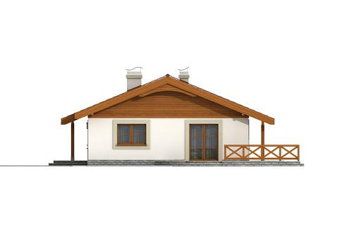 Anulka z garażem w technologii drewnianej - Elewacja prawa
