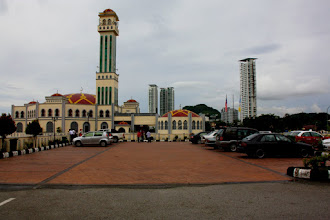 Photo: Year 2 Day 107 -  Mosque in Tanjung Bungah  with Skyscraper Background