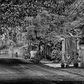 Smoking road by Tigor Lubis - Black & White Street & Candid