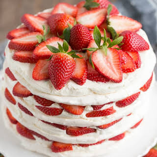 Strawberry Meringue Cake.