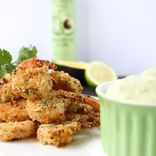 Crispy Prawns With Avocado Lime Aioli