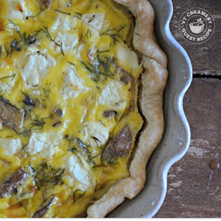 Caramelized Onion, Mushroom & Goat Cheese Quiche