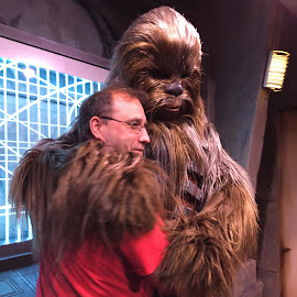 Chewbacca Love by Kristine Nicholas - Novices Only Portraits & People ( love, cosplay, hugs, chewy, hug, hugging, star wars, costume, men, characters, man, character,  )