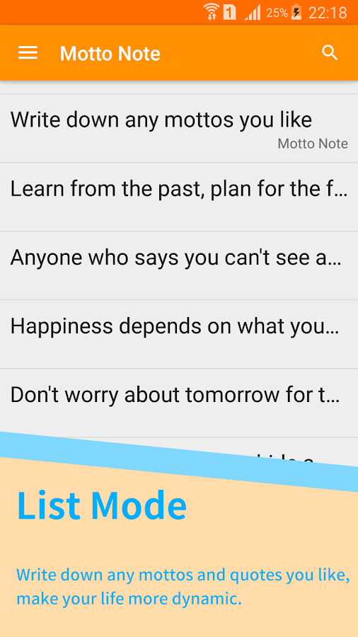 Motto Note- screenshot
