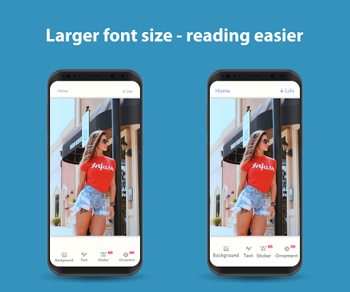 Big Font - Change Font Size - font size changer 1.2.24 screenshots 1