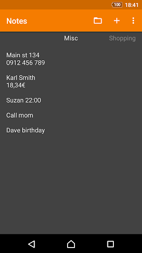 Screenshot for Simple Notes Pro in United States Play Store