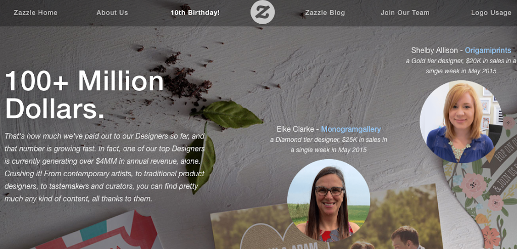 Zazzle 10th Anniversary Page Featured Elke Clarke