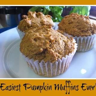 Super Easy Pumpkin Muffins from Cake Mix.