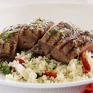 Greek Grilled Lamb with Mint Couscous