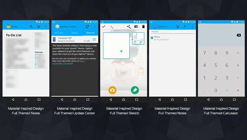 android MaTeRiaL Blue Theme KK Screenshot 7