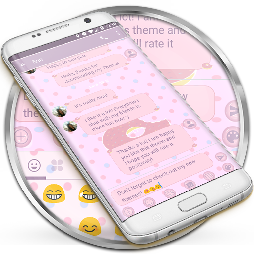 SMS Messages Pink Donut Theme