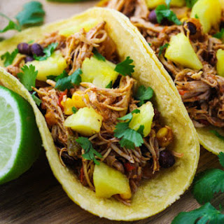 Slow Cooker Hawaiian Chicken Tacos