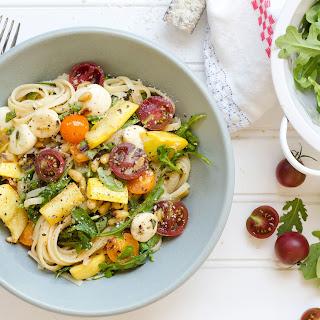 Linguine With Summer Squash, Tomatoes, And Mozzarella
