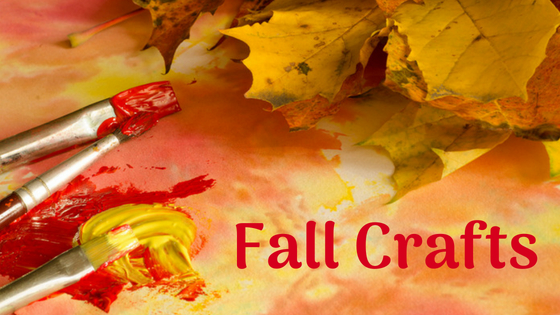 fall craft leaves and paint brushes