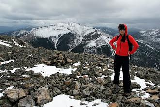 Photo: Helen at the summit.