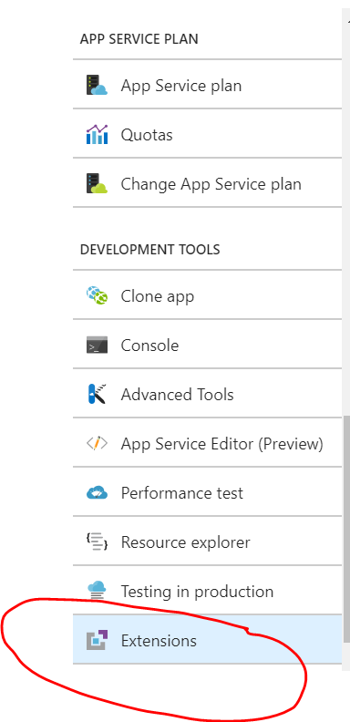 azure extensions