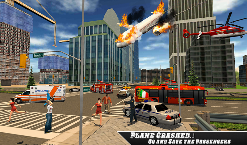 Скриншот Airplane Fire Fighter  Ambulance Rescue Simulator