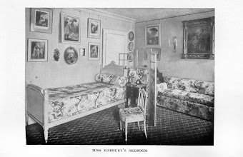 Photo: A fashionable early 20th c. bedroom designed by Elsie DeWolfe. She was the woman who basically invented the style of interior design used for most of the 20th c.