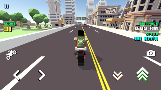 Blocky Moto Racing 🏁 screenshot 1