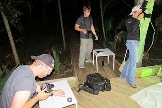 Photo: Photographers at the blacklight.