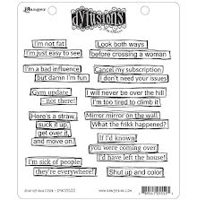 Dylusions Cling Stamps 8.5X7 - Shut Up And Color