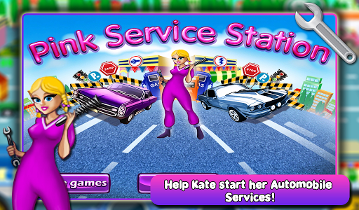 Pink Service Station Free