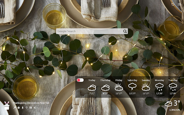 Thanksgiving Decorations New Tab HD