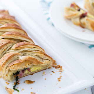 Savory Spinach and Bacon Breakfast Danish.