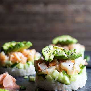 Stacked California Sushi Roll.