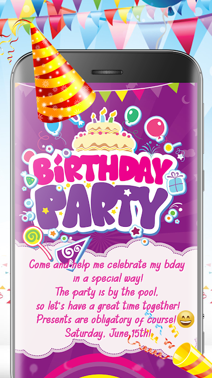 Birthday Cards Invitation Card Maker Free Android Apps