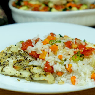 Baked Fish Meal.