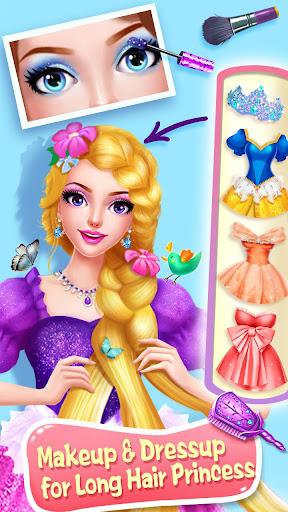 👸💇Long Hair Beauty Princess - Makeup Party Game screenshot 5