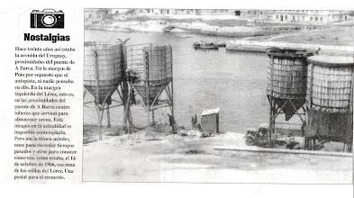 Photo: Tobeiras para almacenar area en 1966