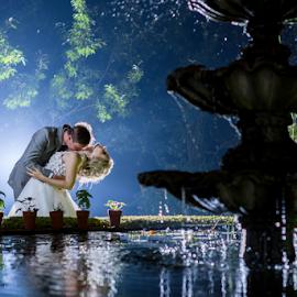 Fountain  by Lood Goosen (LWG Photo) - Wedding Bride & Groom ( wedding photography, wedding photographers, wedding day, weddings, wedding, wedding photographer, bride and groom, bride, groom )