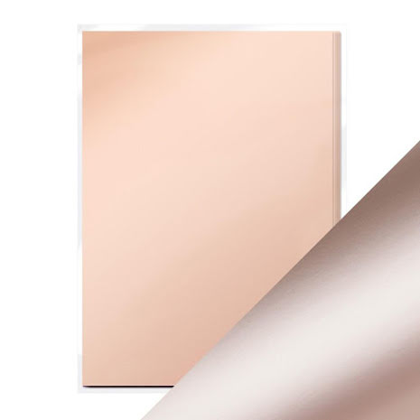 Tonic Studios Craft Perfect Mirror Card A4 250gm - Burnished Rose Satin