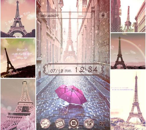 Theme Rain at the Eiffel Tower 1.0.1 Windows u7528 1
