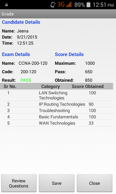 Cert CCNA Practice Exams- screenshot