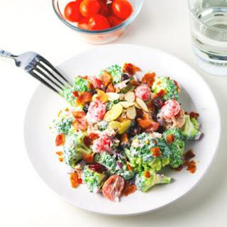 Healthy Broccoli Bacon Salad with Greek Yogurt Dressing