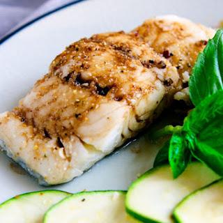 Ginger Lime Tamari Baked Cod.