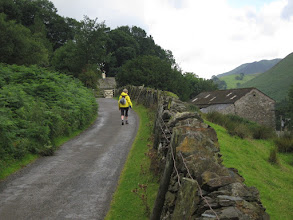 Photo: ... and up a narrow road.